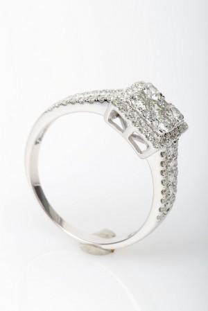 brillantring fra diamonds by7 frisenholm 14 kt rhodineret guld ca ct. Black Bedroom Furniture Sets. Home Design Ideas