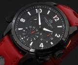 Lebeau-Conrally 'Le Baron'. Men's chronograph, PVD-treated steel