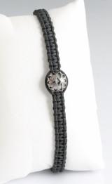Handwoven bracelet in 18k black gold