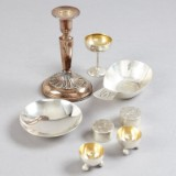 Ljusstake dosor fat silver