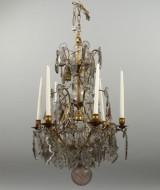 Ljuskrona barockstil 1800-talets mitt.