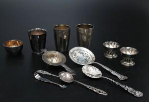Parti silver, 11 delar, vikt ca 390 gr 11