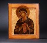 Russisk-ortodoks ikon. Gudsmoder, blødgører af onde hjerter. 17-/1800-tallet