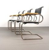 Marcel Breuer, set of arm chairs, model D 40 by Tecta (4)