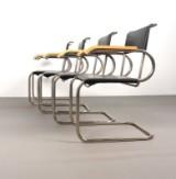 Marcel Breuer, Set Armlehnstühle Modell D 40 von Tecta (4)
