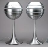 Par Manhattan bordlamper, aluminium (2)