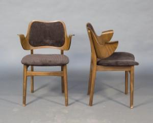 zwei cocktail sessel d nisches design von hans olsen f r bramin 2. Black Bedroom Furniture Sets. Home Design Ideas