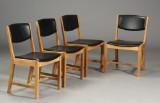 Sorø stolefabrik. Fire stole af egetræ (4)