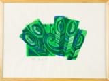 Hermann Muth, Farblithografie, 1974, 1/10