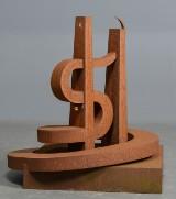 Harvey Martin, cortenstål, abstrakt skulptur, 'Twin Towers'