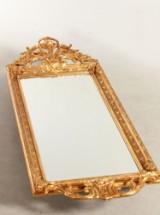Spejl med ramme af guldbemalet gips 1900´tallet