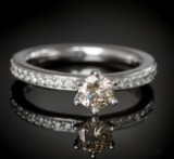 Brilliant-cut diamond ring, approx. 0.67 ct.