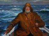 Unknown Skagen painter. Fisherman in a boat, c. 1900