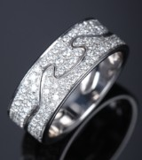 A pair of 'Fusions' rings, 18 kt. white gold, fully set with diamonds (2)