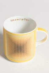 Kaffeetasse mit UT, Tettau, Victor Vasarely