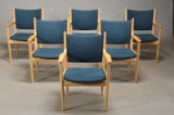 Hans J. Wegner. PP240 six conference chairs (6)