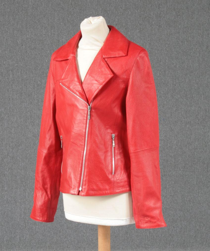 0f236e3801c Skindjakke rød