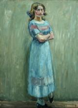 Harald Giersing. 'Staaende ung Pige i lyseblaat', ca. 1910-11