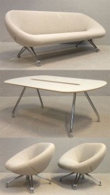 Lounge suite, 4 pieces, Harrit & Sørensen, model Sweep for RMB (4)