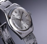 Vintage Rolex Oyster Precision men's watch, steel, silver-coloured dial, mid-1950's