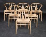 H. J. Wegner. Dining chairs, model CH-24, oak (6)
