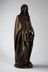 Dante Alighieri, figur/skulptur, bronze, formgivet af Rolland Fondeur, Frankrig/Paris
