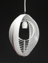 Verner Panton. Moon lamp pendel, hvidlakeret.