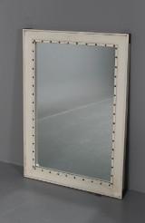 Spegel, WR, vit med nitar