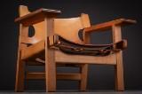 Børge Mogensen. Oak  Easy chair, 'the Spanish chair', model 2226