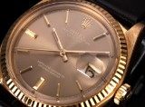 Rolex 'Datejust'. Men's watch, 18 kt. gold with champagne-coloured dial, c. 1972