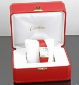 Cartier `La Donna` ladies watch in 18kt, with box and papers