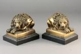 Par bogstøtter, bronze (2)