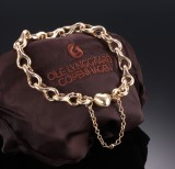 Ole Lynggaard. 'Mega' bracelet with heart clasp, 14 kt. gold