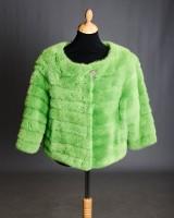 Brdr. Alex Petersen. Kort jakke af grønfarvet mink