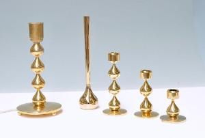 asmussen design Asmussen design. Samling lysestager, bordlampe og vase(5  asmussen design