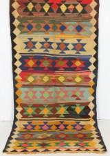 Orientalisk flatvävd matta, Harsin Kelim, 303x142 cm