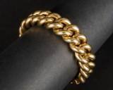 Panserarmbånd 585 guld, 82,34 g