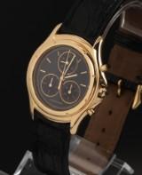 Cartier Santos Ronde Chronograph. Unisex watch, 18 kt. gold