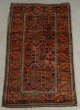 Orientalisk handknuten matta, antik, Beluch, 189x110 cm