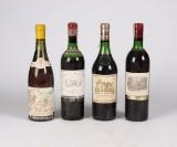 4 flasker moden fransk vin, heriblandt Chateau Haut-Brion 1972 (4)