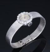 IWC Schaffhausen. Vintage ladies watch, 18 kt. white gold with diamonds