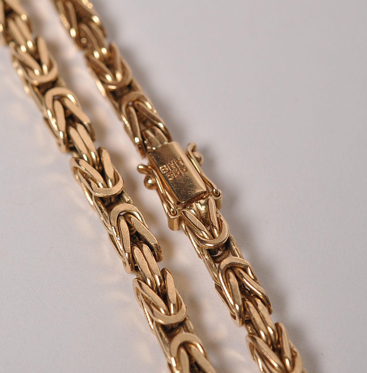 kongekæde guld halskæde