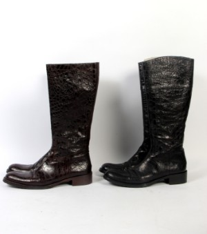 2fcab291324 Tunit Rocci To par støvler i croco print, str. 40 2