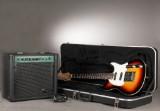 Peavey Generation EXP elguitar  med tilhørende flightcase og Stagg 20 BA forstærker (2)