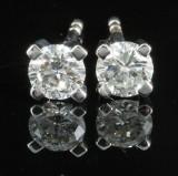 Earrings in 18k  set with brilliant cut diamonds 0.54 ct