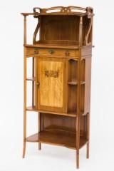 Inlaid Art Nouveau/cabinet, in the style of Émile Gallé