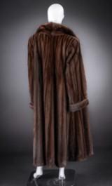 Brown mink coat, size 46 / 48, female mink, Saga Mink