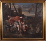 Unknown artist. Aktaion temped by Eros, oil on canvas