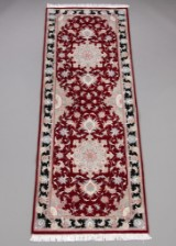 Persian Tabriz runner with silk, 245 x 88 cm