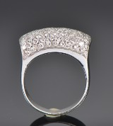 Italian diamond ring, 18 kt white gold, approx. 1.25 ct